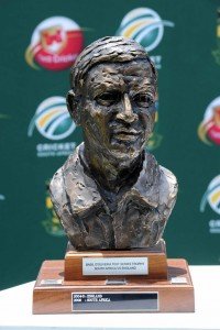 JOHANNESBURG, SOUTH AFRICA - JANUARY 17, Basil D'Oliveira trophy during day 4 of the 4th Test match between South Africa and England from Bidvist Wanderers on January 17, 2010 in Johannesburg, South Africa. Photo by Lee Warren / Gallo Images