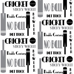 Cricket-Words-Wallpaper-black-grey-white-repeat-by-ATADesigns2
