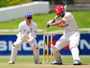 Stephen Cook of the Lions during the Sunfoil Series 2014/15 game between the Cobras and the Lions at Newlands Cricket Ground, Cape Town on 20 December 2014 ©Ryan Wilkisky/BackpagePix